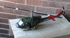 Huey Helicopter Gunship 1965 (Lammyman) Tags: models military scale plastic helicopter huey gunship