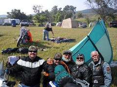 Aug 9 2016 - The boys finishing setting up our tent for the week at Sturgis (lazy_photog) Tags: lazy photog elliott photography sturgis south dakota motorcycle rally races black hills classic bikers babes harley davidson party beer