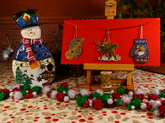 Christmas Ornaments 2016 (GATACA1952) Tags: millhill kits christmas ornaments crossstitch embroidery beads dmc mandolin moose angel perforatedpaper