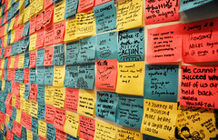 Notes (DILLEmma Photography) Tags: notes board colorful postit sticky focus blur bokeh quote citations pinboard notice noticeboard bulletinboard saying idiom famous perspective text