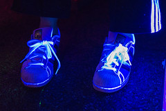 2016-09-16 Black Light Portraits 025 (consolecadet) Tags: blacklight neon portraits fluorescence party rave sneakers adidas glowing