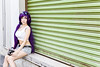 Toujou Nozomi (bdrc) Tags: asdgraphy toujou nozomi doujin version lovelive idol cosplay girl portrait outdoor street back alley shah alam selangor shelly wall art bleach bypass natural light sigma 30mm prime sony a6000 agfa camera props