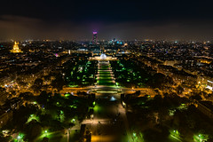 Champ de Mars from the Eiffel Tower (Lamont Cunningham) Tags: paris champdemars lights photography nikon d3300 tokina history
