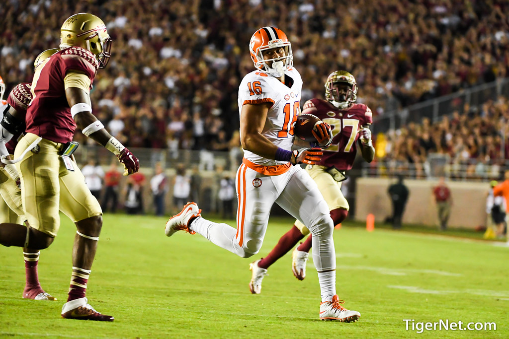 Clemson Photos: Jordan  Leggett, 2016, Football, Florida  State