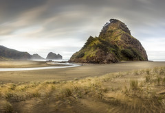 """Good Morning""!!! (EwanDunsmuirImages.com) Tags: beach windy rain clouds movement nd1000 neutraldensity long exposure nisi longexposure filter rough west coast sand black blacksand volcanic surf surfing waves lifesaving pihabeach lion rock plug lionrock iconic waitakere henderson grasses grass leading leadinglines pano panoramic raw dslr canon 5d 5d2 haar mist haze spray flickr trave tourist yourist tourism travel lonely lonelyplanet world maori iwi flickrsbest flickrunited flickrunitedaward astoundingimage photostream flickrlovers piha volcano flickraward5"