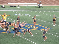 Homecoming Halftime (Andrew Penney Photography) Tags: uco ucohomecoming ucofootball ucobronchos edmond 405 school college homecoming students king queen cheerleaders pomsquad