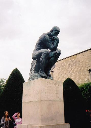 """Párizs, Rodin """"Nagy gondolkodó""""-ja"""