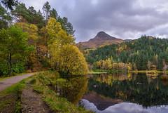 Autumn, Glencoe Lochan (Sarah-86) Tags: glencoe lochan highlands scotland water reflection autumn season landscape nikond810 nikon247028vr papofglencoe