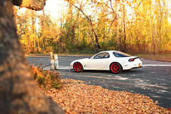 Falling (Ian. S.) Tags: mazda rx7 northfork fall canon sigma 5dmkii 50mmart 50mm 5d workwheels
