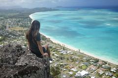 Kat on Kaupo (Marvin Chandra) Tags: d600 24mm 2016 kaupo hawaii hiking hiker ocean katsweets sukiyuki marvinchandra oahu waimanalo pacificocean