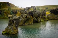 Lava pillars (kzoop) Tags: iceland travel vacation europe lake myvatn nature hofdi lava