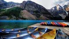 Moraine Canoes (Rex Montalban Photography) Tags: rexmontalbanphotography
