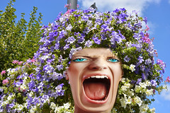 Bad Hair Day (swong95765) Tags: scream flowers shocked upset face expression yell yelling screaming shout looks appearances