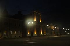 la basilica di sera - senigallia (walterino1962) Tags: duomo chiesa cupola croce facciata portoni palazzi finestre piazza lampioni luci ombreriflessi senigallia ancona