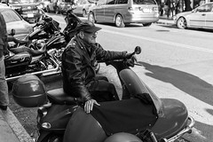 The Wild One (votsek) Tags: 2016 northend boston street motorcycle motorscooter colors leather nikond750 closeup streetphoto