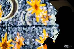Rainy Christmas I (Pippoloide) Tags: canon 6d 100mm macro 28 noche night luces lights navidad christmas lluvia rain paraguas umbrella silueta contraluz silhouette martadiarra