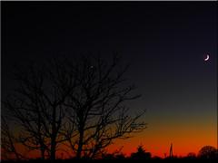 Evening  Sky (Ostseetroll) Tags: deu deutschland geo:lat=5403861436 geo:lon=1068828106 geotagged pönitzamsee scharbeutz schleswigholstein abendhimmel eveningsky mond moon