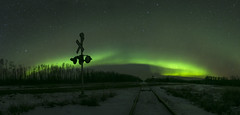 Alberta Northern Lights (Rigsby'sUniquePhotography) Tags: railroad aurora northernlights canada alberta landscape nightscape night longexposure canon canon70d aaronrigsby explore travel getoutthere snow winter cold nature