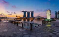 Awakening of the Merlion (jtd89) Tags: morning urban tourism zeiss marina sunrise dawn bay julian singapore cityscape sony tan tourist stack sands merlion masking mbs bracketing 1635 luminosity 1635mm a7rii a7rm2 a7rmk2