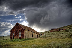 Bodie Ghost Town Storm (LetsAllStayCalmHere) Tags: california copyright usa nature canon landscape photo ghosttown 2009 hdr allrightsreserved stormclouds easternsierras bodiehistoricstatepark 40d photographersnaturecom davetoussaint davetoussaintcom