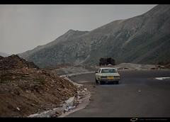 Going far and away........ (Sajid Laeeq) Tags: blue roof pakistan evening nikon smoke pass going journey bluehour nikkor mazda corners cornering screeching naraan kpk babusar nikond5100