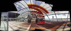IMG_5996iPH5 Bus Stop © 2015 Paul Light (Paul Light) Tags: autostitch holland bus netherlands amsterdam reflections busstop