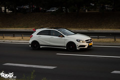 Mercedes-Benz A45 AMG Edition 1. (Stefan Sobot) Tags: white car race mercedes benz 1 nikon serbia fast exotic german belgrade edition a45 luxury rare beograd supercar amg srbija hamma d7000