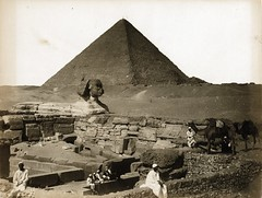 Gabriel Lekegian - Pyramide, Sphinx & Temple, Gizeh, Egypte, ca 1890 (The Patrick Montgomery Collection) Tags: pyramid