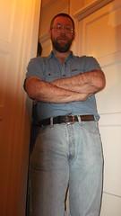 DSCF6685 (rugby#9) Tags: door shirt mirror belt jeans levis blackbelt whitedoor 501s denimshirt shortsleeveshirt levijeans levi501s 501jeans levi501 denimshortsleeveshirt