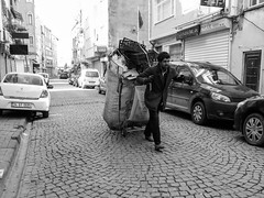 _0028776 (Two people two cameras) Tags: life street blackandwhite bw turkey garbage streetphotography istanbul waste hardwork garbageman lifephotography lowpaidjobs simplejobs