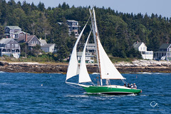 Catching Wind In Boothbay  Harbor (Conrad Anthony) Tags: sailboat maine coastal boothbayharbor
