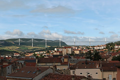 Viaduc de Millau - Millau (France) (Meteorry) Tags: morning bridge roof sunlight france june highway europe view rooftops normanfoster valley pont autoroute tarn viewpoint a75 matin millau viaduc mercure hotelroomview toits aveyron valle 2015 midipyrnes viaducdemillau meteorry cablestayedbridge michelvirlogeux ensoleille lrmp languedocroussillonmidipyrnes