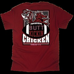 Butt Kickin Chicken Tee (Eat More Tees) Tags: black college football south cock carolina usc garnet gamecock universityofsouthcarolina buttkickinchicken eatmoretees