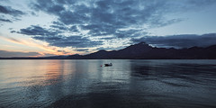 LAKE GARDA Italy (karate-schnitzel.de) Tags: travel blue sunset sea italy sun lake mountains water clouds canon boat garda