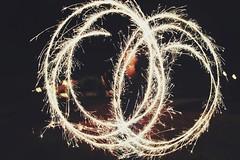 Sparkling bulbs (❛kaz) Tags: longexposure bulb speed stars fun fire sticks lomo long exposure creative experiment shutter sparks spark crackers firecrackers