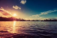 Park Lake Sun (Glenn Cartmill) Tags: park blue red sky sun lake reflection water clouds canon eos colours glenn lurgan amazingcolours countyarmagh cartmill 650d lurganpark