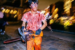 A Bloody Way to Go (Jake in Japan) Tags: street halloween night costume zombie candid flash streetphotography   osaka usj universalstudiosjapan           a6000   sel24f18z  sonye24mmf18za 6000 ilce6000 jakejung