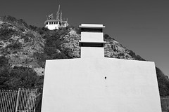Nobbys Head Battery BW (PhillMono) Tags: new city travel white black industry wales port newcastle nikon harbour head empty south sightseeing australia tourist artillery fortress nobbys casemate d7100
