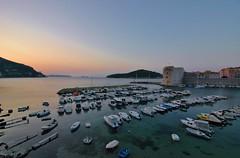Sunrise is coming soon...Dubrovnik (stevelamb007) Tags: morning sea sunrise boats island dawn early nikon d70s croatia tokina dubrovnik adriatic superwideangle oldharbour oldharbor stevelamb 1116mmf28
