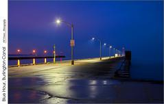 Blue Hour, Burlington Canal (jwvraets) Tags: dawn nikon hamilton gimp bluehour opensource burlingtonbay burlingtoncanal d7100 rawtherapee beachstrip nikkor18105mmvr pierslakeontario