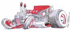 drawing car (ivanutrera) Tags: auto pen sketch drawing coche draw dibujo ilustracion lapicero boligrafo drawingcar