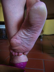 rough soles in high heels (al_garcia) Tags: high shoes toes long sandals hard sweaty heels heel rough stiletto soles toering smelly mule toenails anklet bunions sabot geet calloused