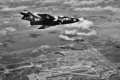VC-61 F9F-6P Cougar BuNo 134458 (skyhawkpc) Tags: airplane inflight aircraft aviation navy 1954 naval cougar usnavy usn grumman pp10 nasmiramar 134458 f9f6p vc61eyesofthefleet
