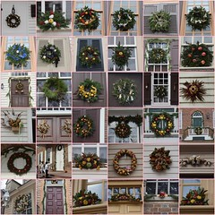 36 Wreaths from Colonial Williamsburg (Tobyotter) Tags: fdsflickrtoys mosaic williamsburg wreaths 2015