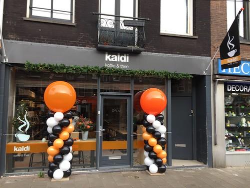 Ballonpilaar Breed Rond Kaldi Amsterdam