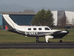 G-GREY Piper Malibu Mirage 46 (Aircaft @ Gloucestershire Airport By James) Tags: james airport malibu gloucestershire mirage piper lloyds 46 egbj ggrey