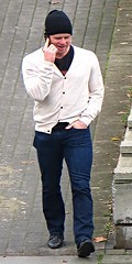 Sunday Stud (ManontheStreet2day) Tags: male guy smile crotch jeans bluejeans stud
