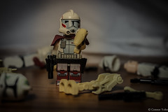 All that remains. (EternalSlothman) Tags: trooper toy photography star legos wars minifigs clone