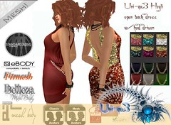 Uni-qu3 Heyle love dress hud driven (uniqu3fashion) Tags: dress body belleza maitreya slink ebody fitmesh