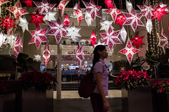 Starry Starry Night (Blue Nozomi) Tags: christmas mall shopping star philippines manila hanging lantern makati decor parol glorietta 2015